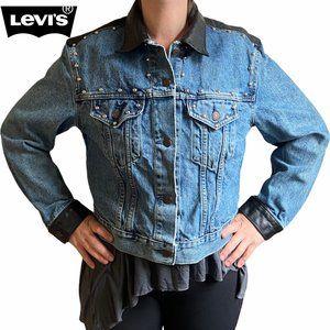 Levi's Denim + Leather Trucker Jacket - Size L